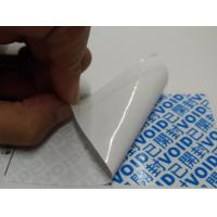 Quality Custom Printing Tamper Resistant Stickers , Tamper Proof Seals For Containers for sale