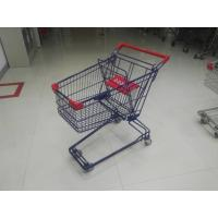 Buy cheap Plastic Safety 75L Retail Wire Shopping Trolley With Easy Pushing Handle from wholesalers
