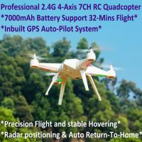 2.4G 7CH Headless Predator RC Quadcopter Drone 32-Mins Flight & Inbuilt GPS One-Key Return