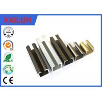 Buy cheap Curtain Track Rail U Section Aluminium Extrusion 35 Mm Width En 755 8 HW Hardness product