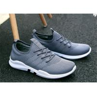 Buy cheap Gray White Mesh Upper Slip On Sports Shoes , Korean Trend Mens Jogging Trainers product