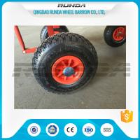 Buy cheap Natural Rubber Inflatable Trolley Wheels PP Rim 16mm Axle Hole Centered Hub 3.00-4 product