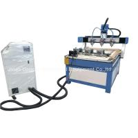 3 Heads 3 Rotary Axis Wood Metal Stone CNC Engraving Cutting Machine