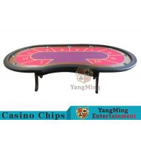 Buy cheap 10 Seats Casino Poker Table With environmentally friendly PU leather armrest product