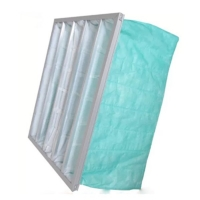 Buy cheap Green Color F6 Pocket Air Filter For Operating Room AHU product