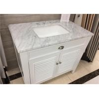 China 22 X 37 Carrera Marble Bathroom Countertops High Polish With Rectangle Cutout on sale