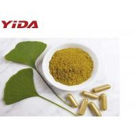 Health Food Grade Ginkgo Biloba Leaf Extract Powder C15H18O8 Brown Yellow Color