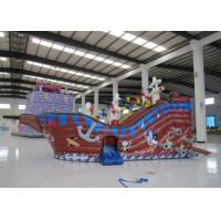 Buy cheap Large  Kids Outdoor Inflatable Pirate Ship Fire Resistance PVC digital painting inflatable pirate boat jump house product