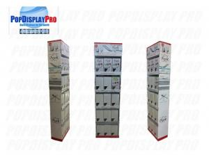 Buy cheap Corrugated Card 5 Shelf Paper Display Stand Retail POS Displays for iFork Tablewares product