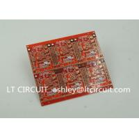 Buy cheap 3'' U Gold Plating Multilayer PCB FR4 Printed Circuit Board Red Solder Mask product