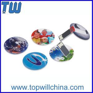 Slim Round Card USB 8 GB Flash Drive High Printing Quality Best Price Best Service