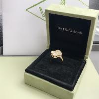 Buy cheap Elegant 18K Gold Van Cleef Jewelry , Vintage Mother Of Pearl And Diamond Ring product