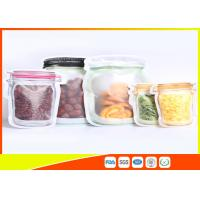 Buy cheap S / M / L Size Custom Jar Stand Up Zipper Stand Up Pouch Packaging Dry Food Packing product