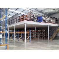 China ISO14001 Cold Rolled Steel RMI Shelf Pallet Rack Supported Mezzanine on sale