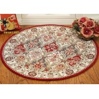 Buy cheap Living Room Persian Rug Modern Design , Round Persian Carpet Dry Quickly product