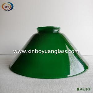 Green bell shaped glass pendant light cover