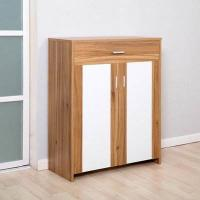 Quality Durable Pine Wooden Shoe Cabinet / Wear Resistant Colored Paulownia Shoe Cabinet for sale