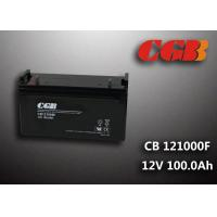 Buy cheap CB121000F 12V 100Ah Valve Regulated Lead Acid Battery , Wind Supply Energy Storage AGM Battery from wholesalers
