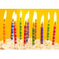 Buy cheap Scheme Color Streak Striped Birthday Candles , Beautiful Custom Birthday Candles product
