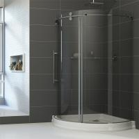Buy cheap Simple Painting Tempered Glass Sliding Bathroom Shower Enclosure from wholesalers