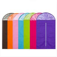 Buy cheap Colorful Cloth Hanging Garment Bags , Foldable Hanging Wardrobe BagFor Overcoat product