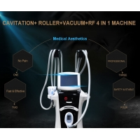 Buy cheap beauty salon/clinic use 4 IN 1 cavatation roller rf and vacuum body velashape from wholesalers