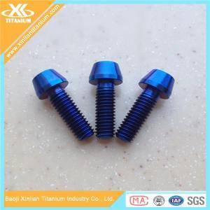 Blue Anodized Titanium Screws