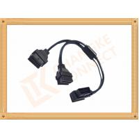 Buy cheap OBD 16 Pin Automotive Extension Male To Female Cable Y Type CK-MF16Y02L product