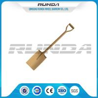 Buy cheap Wooden Handle Straight Edge Shovel Powder Painting Railway Steel Various Color from wholesalers