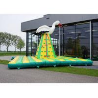 China Funny Inflatable Sports Games Kids Rock Climbing Wall For Outdoor Entertainment on sale