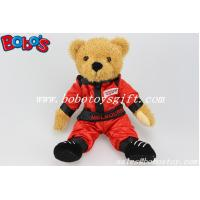 """Buy cheap 10""""Plush Stuffed Toy Wear Red Joined Bodies Vehicle Race Clothing Teddy Bear product"""