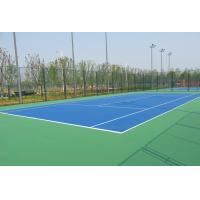 Quality Tennis Court PU Sports Flooring Anti Slip With High Crystalline Silicone Buffer Coat for sale