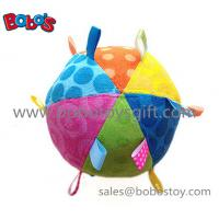Buy cheap Safety Plush Baby Ball Toy Stuffed Infant Ball Toy With Ribbon product