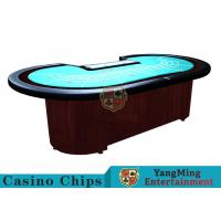 Buy cheap Baccarat Standard Casino Poker Table/ 80 Inch Large Poker TableFor 9 Players product