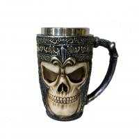 Buy cheap hot sale polyresin skull mug 350ml product