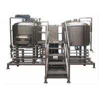 China 5BBL Craft Beer Brewing System PU Foam Insulation With 2 Stainless Steel Vessels on sale