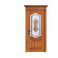 Buy cheap Industry Leading Mosaic Glass Insert Lacquer Interior China Wooden Door product