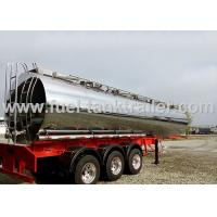 316L Milk Transport Truck , Stainless Steel Water Tank Trailer With Pump System