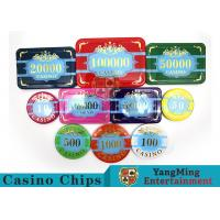 Buy cheap Custom Acrylic Casino Poker Chip Set , New Style Poker Set With Numbered Chips product