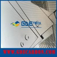 customized CNC glossy carbon fiber sheet