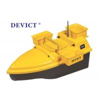 Buy cheap DEVC-203 RC Fishing Bait Boat Yellow ABS Plastic 4-5 Class Wave Resistance product