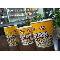 Buy cheap Food Grade 64oz 85oz 130oz Paper Popcorn Buckets Generic Yellow product