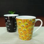 China V shape smile face color changing magic mug promotional sublimation wholesale