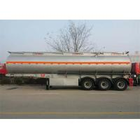 Buy cheap CIMC Tri - Axle Fuel Tanker Truck Semi Trailer 50 - 80 Tons For Carrying Oil product