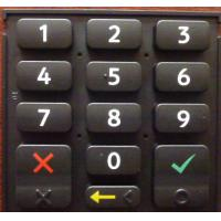 Buy cheap High Strength Elastic Silicone Rubber Keypad With Backlight Effect , Portable product