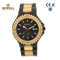 Buy cheap Round Face Custom Men Wooden Watches , Black Sandalwood Maple Wooden Style Watches product