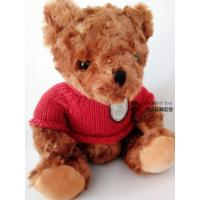 Plush Teddy Bear Gray Stuffed Toy With RED Cloth Cool Item Hot Model Animal FOR KIDS Children christmas Present New