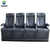 Buy cheap 4D Cinema System PU Leather Motion Seat Black Color With 40 Seats from wholesalers