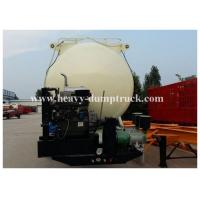 Buy cheap Reinforced steel Cement semi Trailer for dry bulk powder material transportation with warranty product