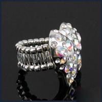 Buy cheap Ring, Decorated with Band Inlaid Rhinestone, Made of Zinc Alloy, Lead- and Nickel-free product